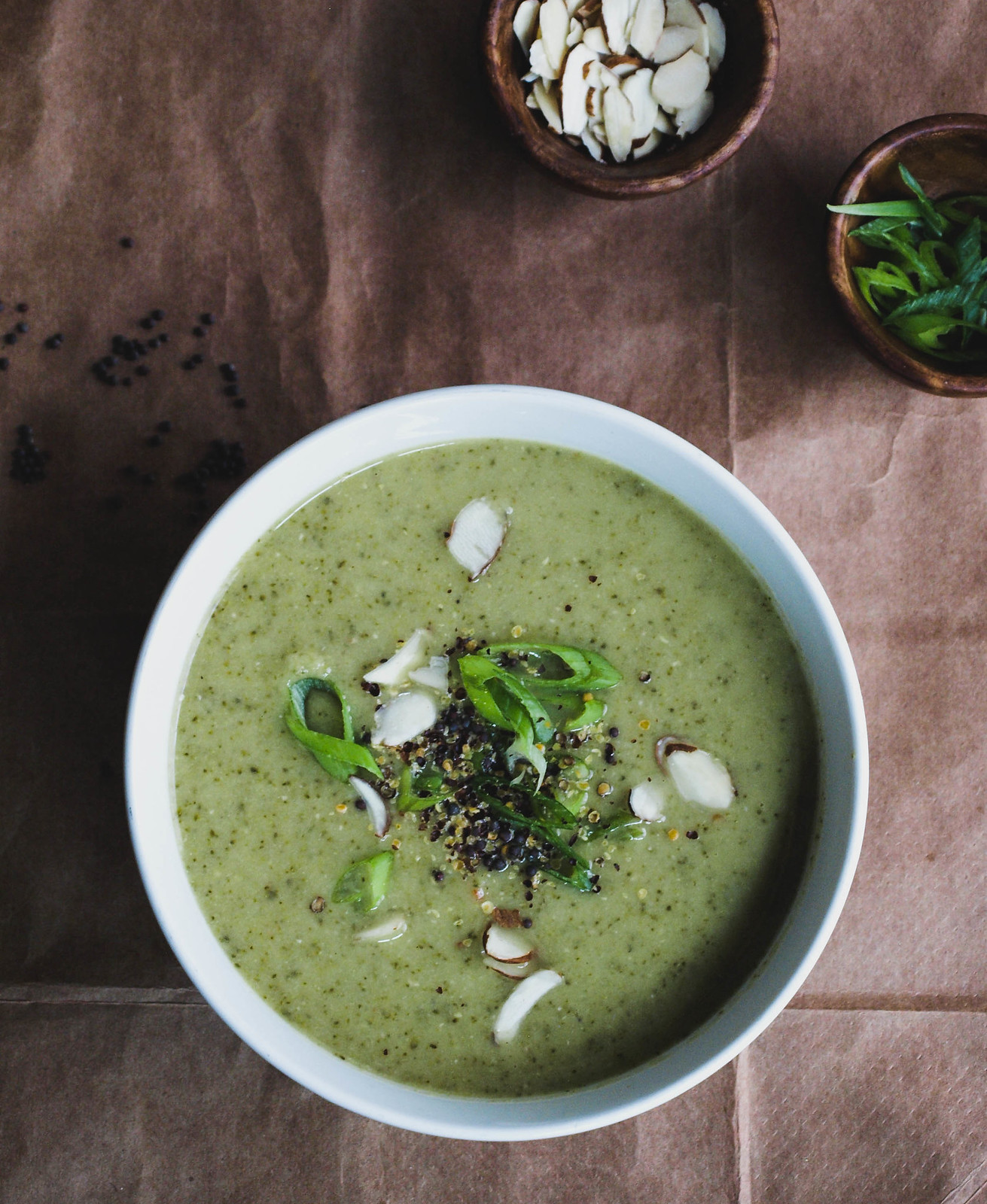 CREAMY BROCCOLI + RED LENTIL SOUP