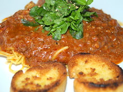 Chilli, Noodles, Toasted Loaf, Watercress
