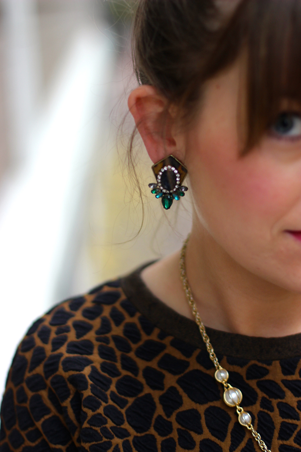 tortoise statement earrings