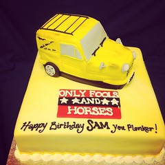 #only #fools #and #horses #delboy #trotters #van #cake