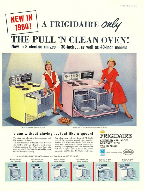 Frigidaire Pull 'n Clean Oven - published in Ladies' Home Journal - December 1959