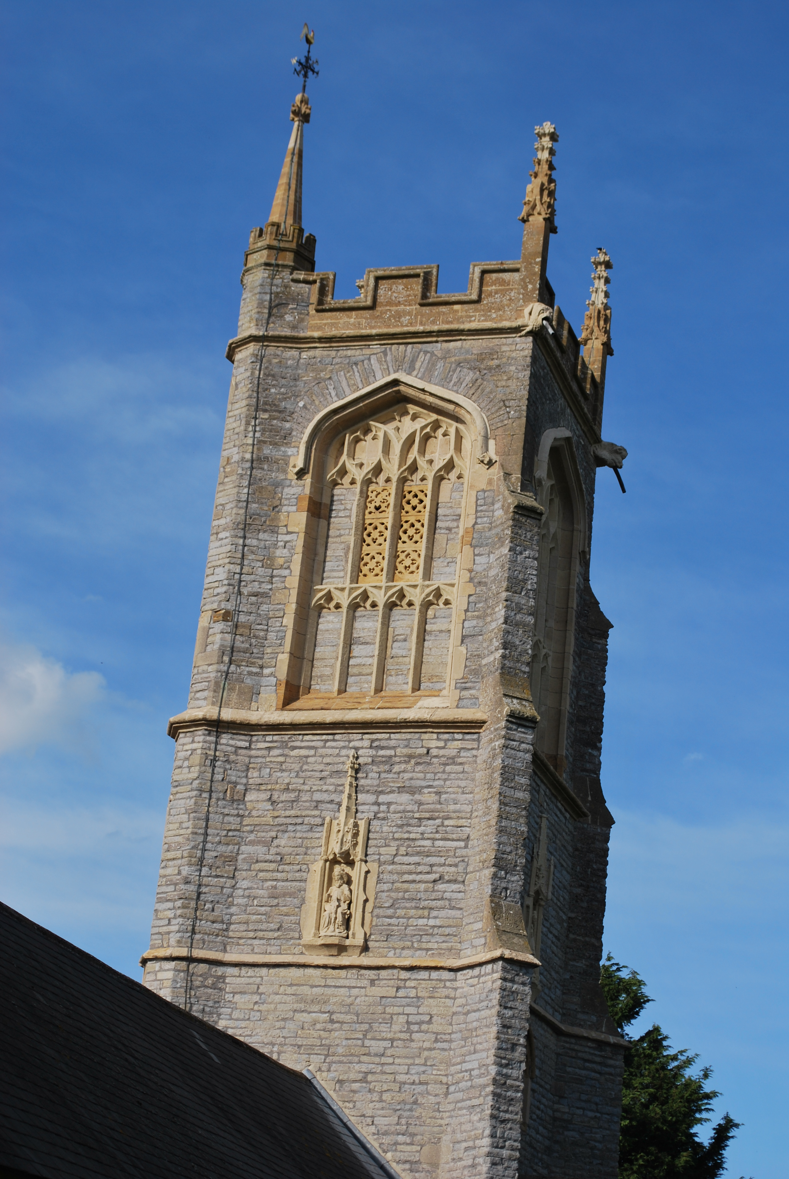 St Michael's Church, Othery, Somerset - West Face