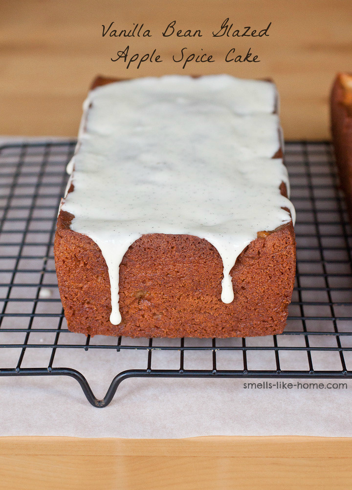 Vanilla Bean Glazed Apple Spice Cake
