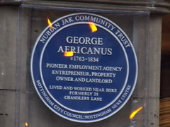 Photo of George Africanus blue plaque