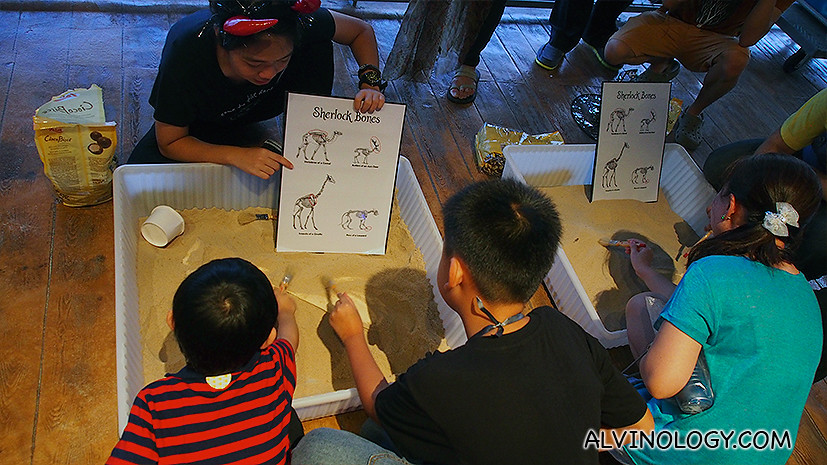Asher participating in one of the free games