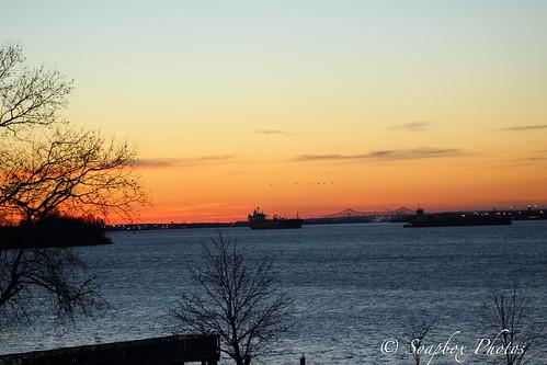 """Sunset on the Delaware River"""