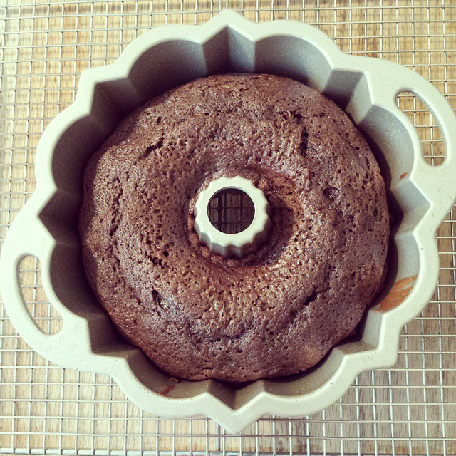 Happiness is a chocolate cinnamon#bundt! #nationalbundtday #ilikebigbundts #baking