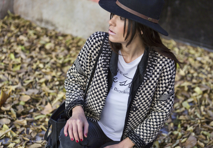 street style barbara crespo hake outfit hat el retiro fashion blogger blog de moda