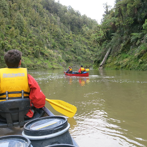 Canoes on Whanganui River