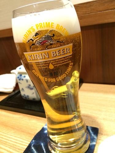 ビール@寿司 高瀬