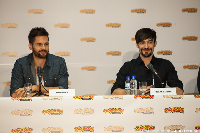 Tom Riley e Blake Ritson (Da Vinci's Demons) - Comic Con Portugal '14
