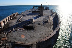 vehicle(0.0), breakwater(0.0), dock(0.0), shore(0.0), terrain(0.0), pier(0.0), coast(0.0), tower(0.0), fortification(0.0), ship(1.0), sea(1.0), ocean(1.0), watercraft(1.0), shipwreck(1.0), boat(1.0), waterway(1.0),
