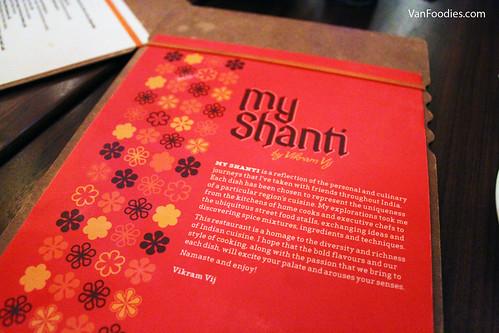 Dinner at My Shanti