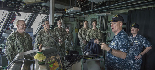 Navy Expeditionary Forces Command Pacific (CTF 75) Visits USS Fort Worth (LCS 3)