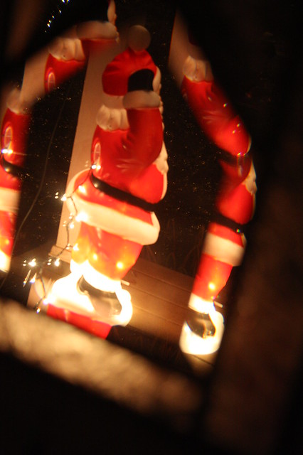 Santa through the glass