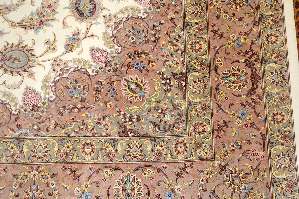 Qum Pure Silk 7x10 Persian Rug (13)