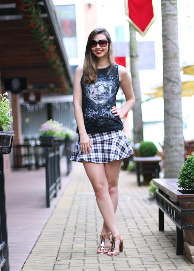 02-saia xadrez blusa preta sempre glamour