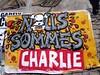 Nous sommes Charlie - rue de Belleville graffiti detail by Claudecf