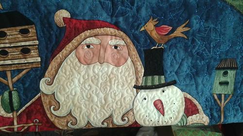 Santa panel quilt - the quilting!