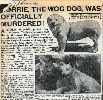 Noticia de la muerte de Horrie