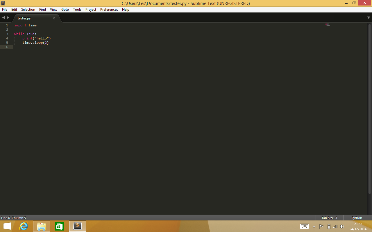 Running Sublime Text on Windows 8