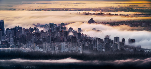 city mountain fog vancouver sunrise hospital dawn nikon downtown bc britishcolumbia lookout richmond englishbay stanleypark cypress yvr vgh d800 vancouvergeneralhospital markdonovan milovosch d5photocom d5photo