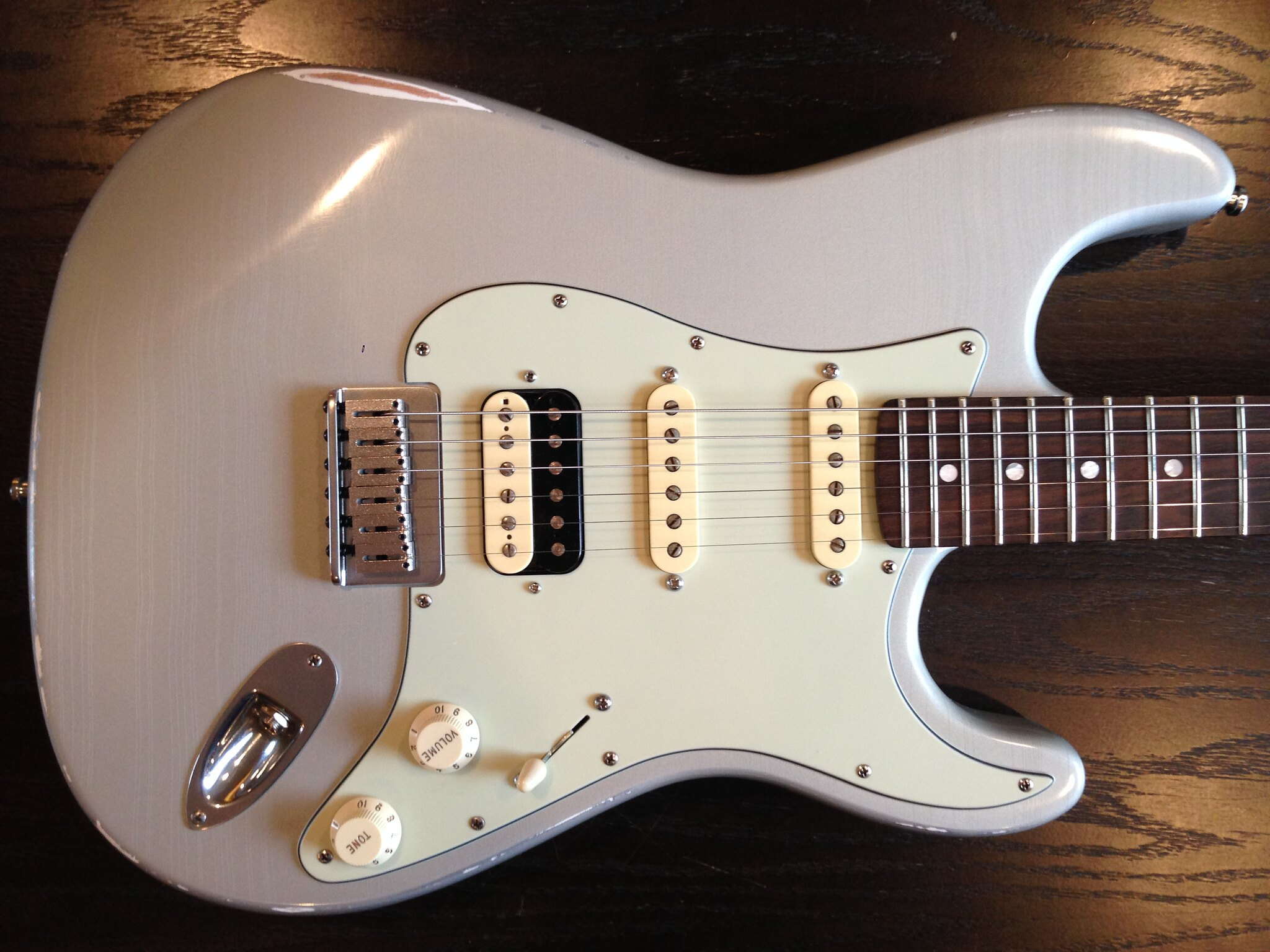 So Last Year I Had A Really Nice Strat Neck Lying Around And Got The Bug To Make HSS Superstrat Built Killer Premium Tonewood Relicd Beauty