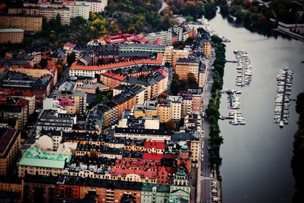 Houses and boats, Stockholm