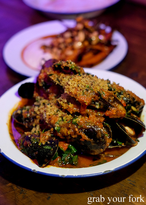 Chilli mussels at Pazar Food Collective, Canterbury