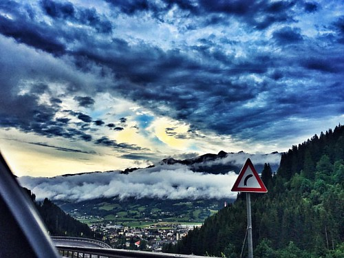 #way to #redbull #ring #redbullring # under #dark #clouds