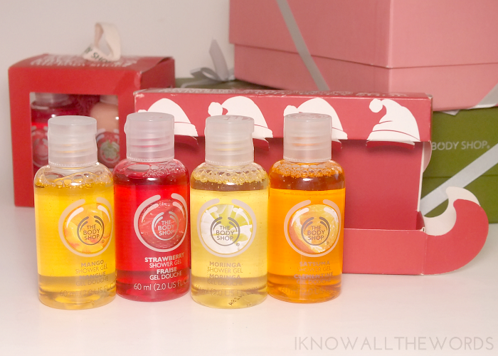 body shop gift sets- shower gel sleigh