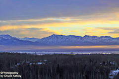 Sunset And Fog On The Knik Arm W_8579