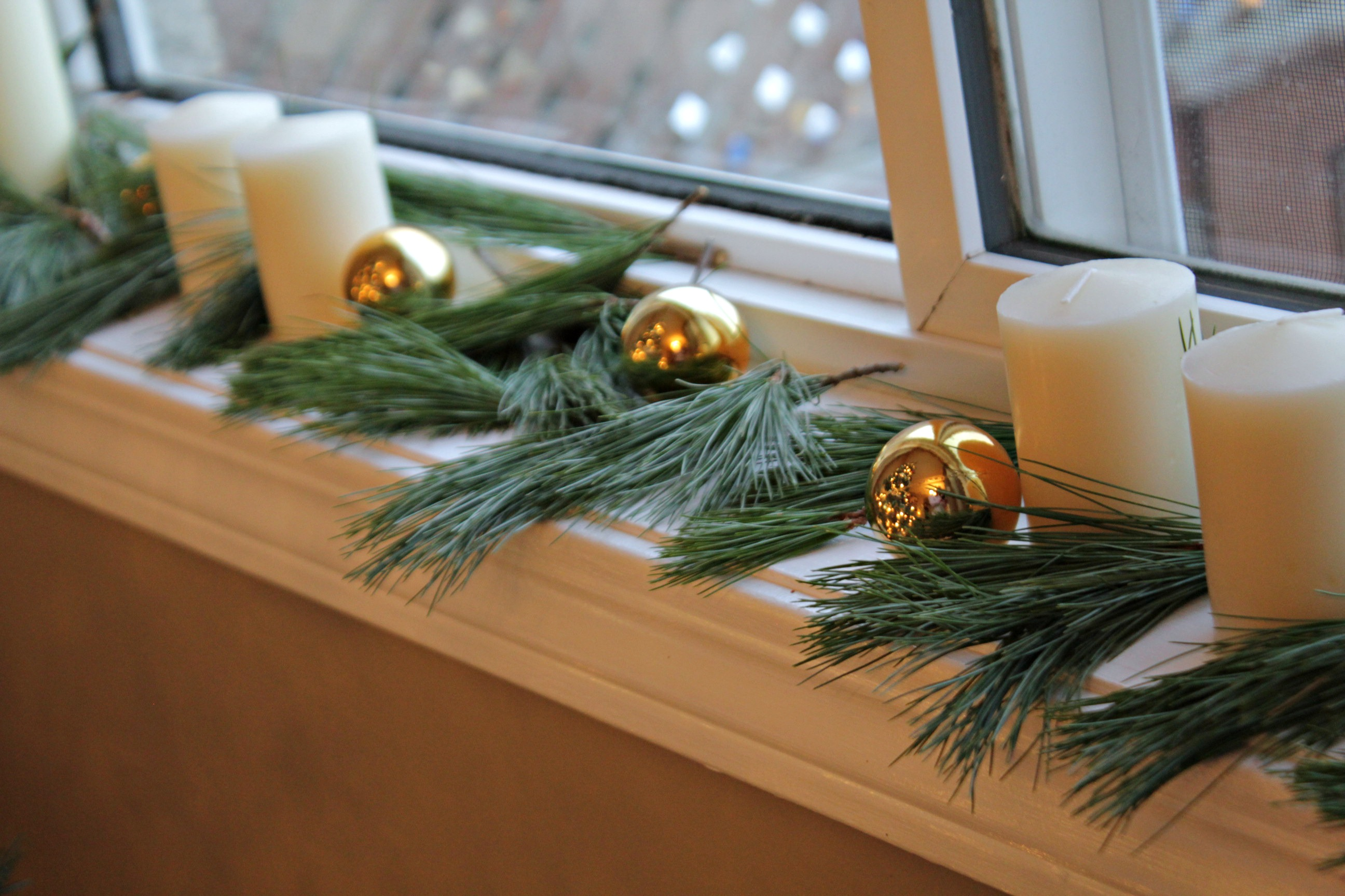 window sill candles