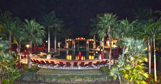 PGA National Resort and Spa - pool at night