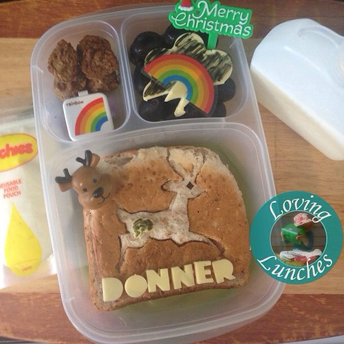 Loving learning something new… did you know that 'Donner & Blitzen' is German for 'Thunder & Lightning'? Guess who's next in our #reindeer series? #Christmas #easylunchboxes @smashenterprises #SMLnudefoodcomp