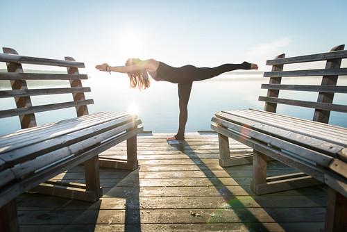 morning blue lake yoga standing sunrise pose landscape nikon sweden wizard hour session pocket poses d800 sigtuna 2470 stockholmcounty