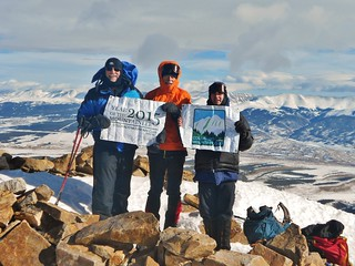 Bill, Mark, and Darren on Summit of Mt. Elbert