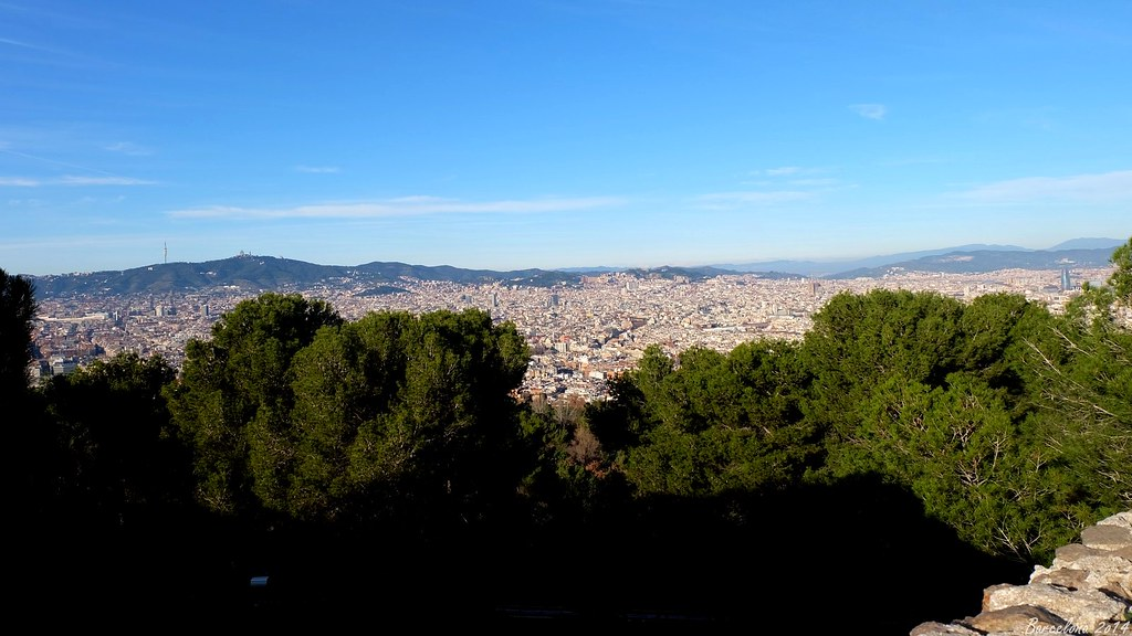 Barcelona day_3, view on Barca from Castell de Montjuïc