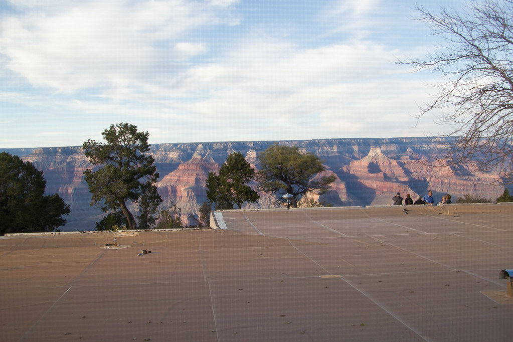 View from Thunderbird Lodge at Grand Canyon