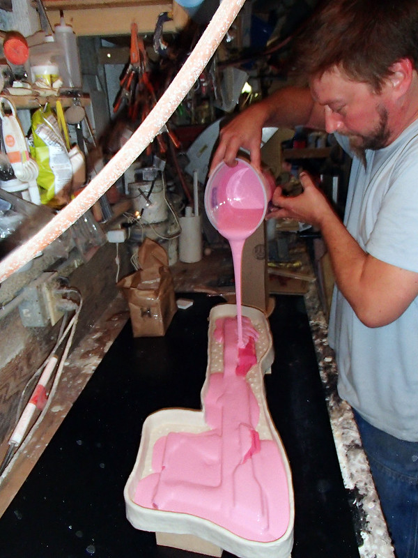 August 14 Pouring Print Coat on Lightning Gun Body Progress 195