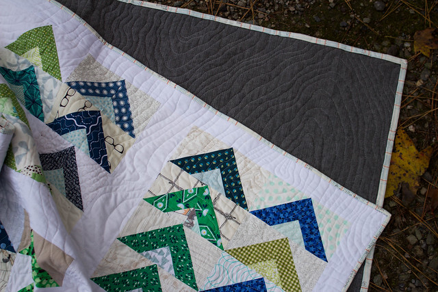 Tent Camp Quilt - Quilting & Back