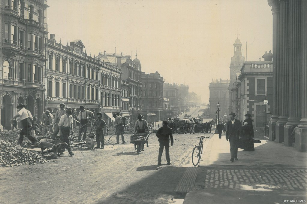 Princes Street - Construction of Tramlines