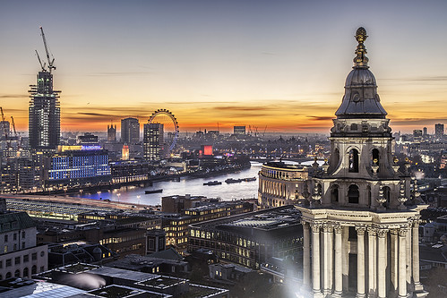uk sunset england urban london europe cathedral stpauls