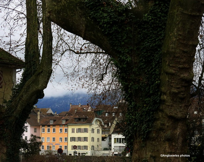 Looking at the old town from the Vorstadt, Solothurn
