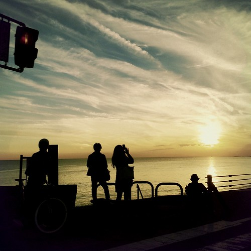 sunset japan landscape seaside kamakura iphone