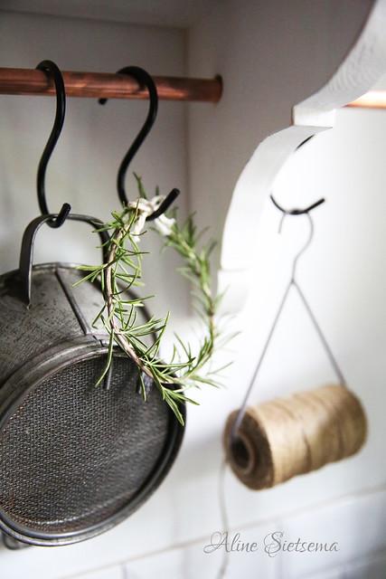 kerst zelfmaker krans rozemarijn brocantepost