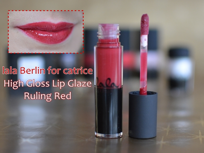 lala Berlin for catrice 05  high gloss lip glaze ruling red