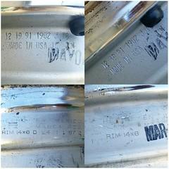 #For#Sale#Used#Parts#alyehliparts#alyehli#UAE#AbuDhabi#AlFalah#City  SET OF USED 4 × CLASSIC CRAGAR SS RIMS 15x6 AND 14X6  DETAILS :  TWO RIMS 14X6  HECHO EN MEXICO MARACA REG  RIM 14X6 D L426 1 87 1 - MAR 10 1987   RIM 14X6 D L421 1 87 2 - MAR 10 1987
