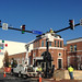 Installation of new street signs as part of the Streetscape Project.  12.16.14