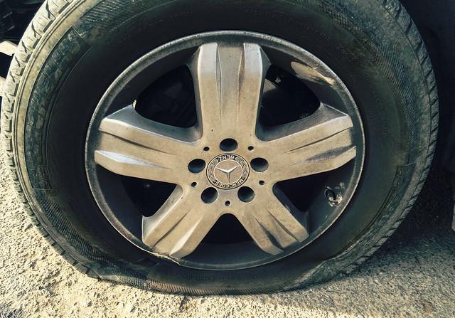 Mercedes Flat Tire